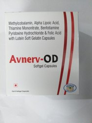 Methylcobalamin Benfotiamine Folic Acid Thiamine Pyridoxine Lutein Alpha Lipoic Acid Softgel Capsule