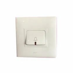 Legrand Pvc 2 Module Bell Switch, Model Name/Number: Mylinc, 240 Vac