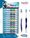 Multicolor Polypropylene Merlin Paris Soft Toothbrush, For Cleaning Teeth