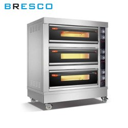 Automatic Bresco Electric Bakery Oven 3 Deck 6 Tray