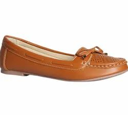 Bata Brown Women Ballerinas Shoes