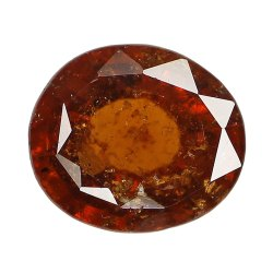 Oval Orangey Unheated Gomed Stone
