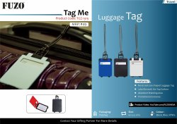 Fuzo Tag Me Luggage Tag