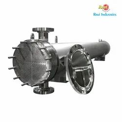 Ravi Manual Shell and Tube Condenser, For Food Process Industry, Refrigeration