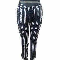 Blue and White Women Ladies Rayon Pyjama, Size: S-xl