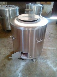 Round Stainless Steel Drum Tandoor, For Hotel, Restaurant