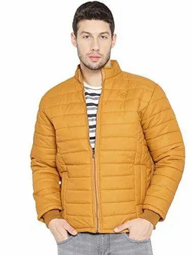 Men Solid Padded Jacket