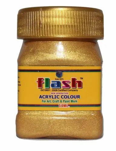 Bright Gold Metallic Paint (Water Base)