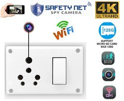 4k Wifi 3-in-1 6/16 Amp Switch Socket Combined Camera