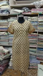 Cotton Hand Block Print Kurti