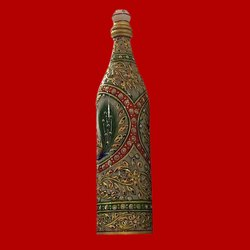 Krasava Craft Decorative Handicraft Marble Bottle, Size: 9 Inch