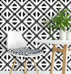 Black Hand Printed Wall Tile