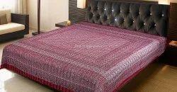 Ajrakh Print Handmade Boho Kantha Bedspreads