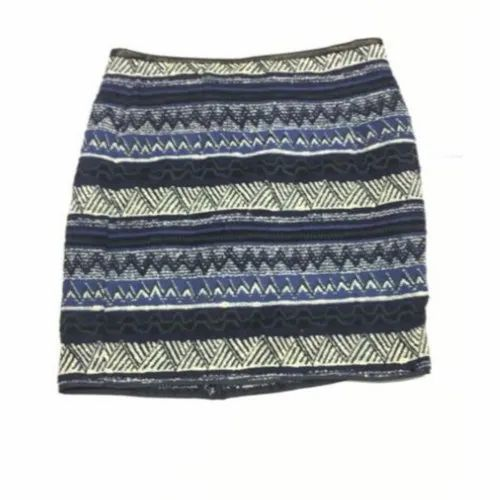 Short Ladies Embroidered Cotton Skirt