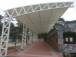 Walkway Tensile Roofing Structure