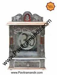 12 x 7 x 18 Open Aluminium- Copper Oxidize Carving Temple