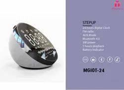 3W Minura STEPUP Digital Clock Alarm Fm Radio Bluetooth Speaker MGIOT-24
