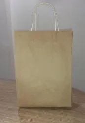 White Handle Brown Paper Shopping Bags, Capacity: 5kg