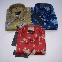 Mens Party Wear Printed Shirt