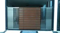 Polished Stainless Steel Swing Gate