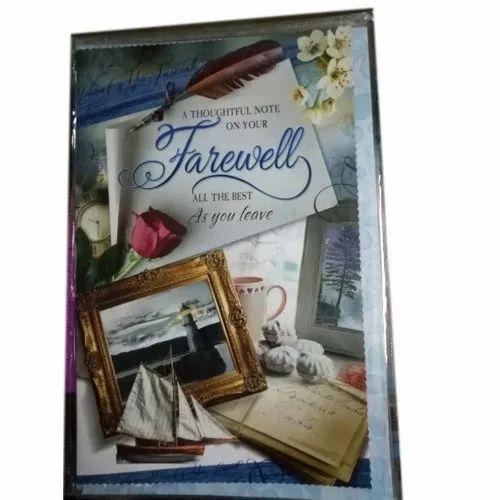 craft rectangular farewell printed greeting card rs 100