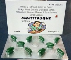 multitask soft gel capsules Omega-3 Fatty Acid Combination, 10 Capsules, Packaging Type: Strips