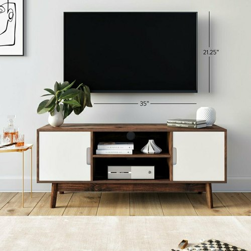 Brown 18 Rajtai Wooden Modern Design Tv Stand With Storage Box Rs 29889 Piece Id 22430495033