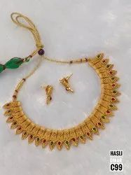 South Indian Matt Finish Jewellery Set 01