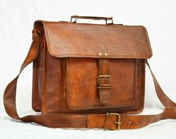 Brown Mens Office Leather Bag