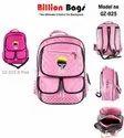 Dark Pink Colour Girls School Bags
