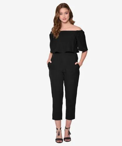 b3d33656ba Black Off-Shoulder Slim Fit Full Length Party Wear Jumpsuit
