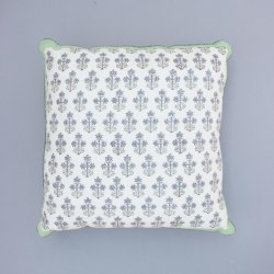 Green Floral Motif Cushion Cover