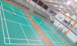 Green Synthetic Badminton Shuttle Court Flooring Mat