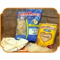 VARALAKSHMI Basic Indian JEERA / CUMIN RICE PAPAD, For Ready To Fry, Packaging Type: POUCHES