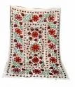 Vintage Handmade Afghan Suzani Throw Antique Cotton Wall Tapestry Rare Indian Wall Hanging