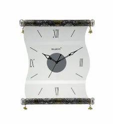 Blazon Analog Antique Kankotri Glass Wall Clock, Size: 343 X 300 Mm