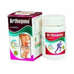 Khemankari Life Sciences Herbal Arthogone Pain Relief Capsule, Packaging Type: Bottle