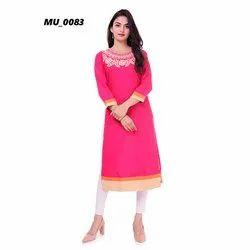 Designer Pink Ladies Kurti