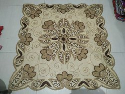 Net Beads Embroidery Table Covers, Size: 100X100cm