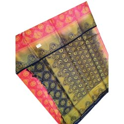 Printed Bridal Wear Pure Silk Balatan Saree with Blouse Piece