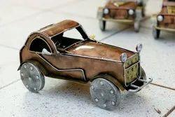 Brown Craftkriti 15 inch Metal Car Shape Table Decor, Packaging Type: Box