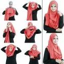 Peach Color Fully Stitched Ready To Wear Instant Scarf Hijab For Women