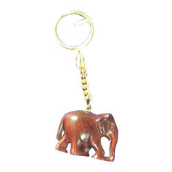Red Sandalwood Elephant Keychain