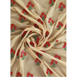 Embroidered Georgette Fabric, Use: Dress