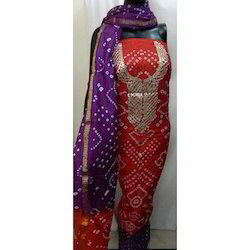 Bandhej Art Silk Suit