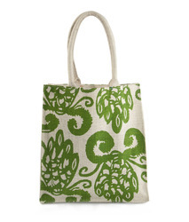 Green Printed Jute Bag