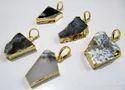 Dendrite Opal Slice Pendant