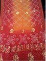 Georgette Banarasi Kutchi Bandhani Saree Red