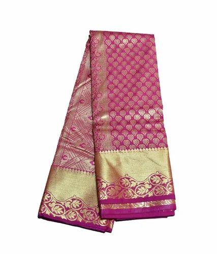 Ladies Kanchi Pattu Saree, 6.3 M (with Blouse Piece) ,Packaging Type: Plastic Bag