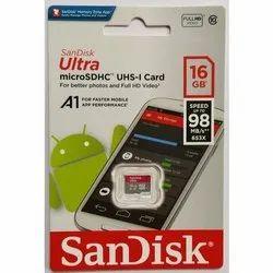 Sandisk U1 A1 98Mbps 16GB Ultra MicroSDHC Memory Card
